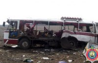 Автобус, подорвавшийся на мине, нелегально перевозил людей через линию разграничения