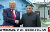 Трамп первым из американских президентов прошел на территорию КНДР (обновлено)