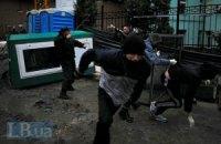 В Киеве активисты разгромили незаконную стройку (ДОБАВЛЕНЫ ФОТО)