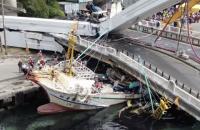 На Тайвані міст обвалився на рибальські човни, постраждали щонайменше 10 осіб