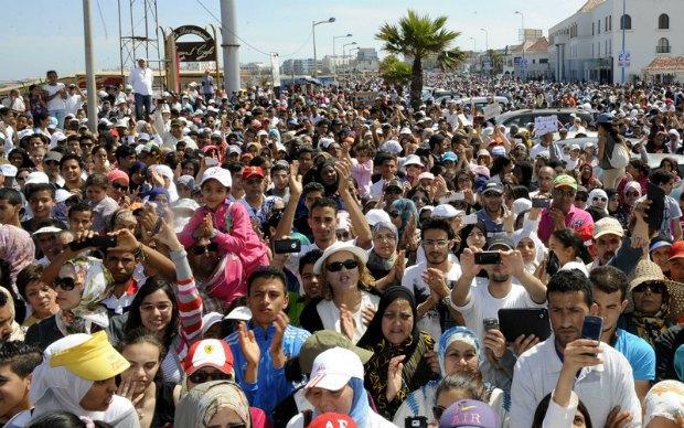 Акция протеста в Касабланке
