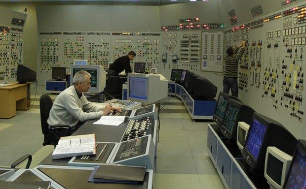 Тренажер, на котором сотрудники ЗАЭС отрабатывают действия в случае аварии