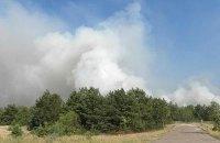 Біля військового полігону в Чернігівській області загорівся ліс (оновлено)
