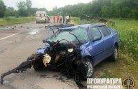 В Луганской области полицейский въехал в маршрутку, 9 пострадавших