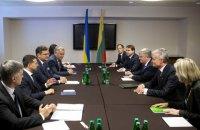 Зеленский встретился с президентом Литвы и премьером Бельгии