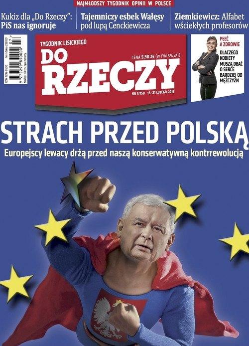 Напис на обкладинці: Страх перед Польщею. Європейські ліваки тремтять через нашу консервативну контрреволюцію.