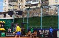 Звуки перфоратора і болгарки завадили поєдинку Світоліної проти японки в матчі Кубка Біллі Джин Кінг