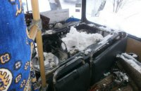 В Черкасской области загорелся рейсовый автобус с 40 пассажирами