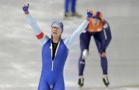 Норвежский конькобежец Ховард Лорентцен выиграл золото Олимпиады на дистанции 500 метров