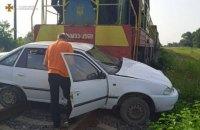 У селі на Львівщині легковий автомобіль попав під поїзд, водійка загинула