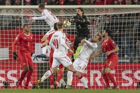 Данці з 84-ї хвилини забили 3 м'ячі у ворота швейцарців і врятували матч кваліфая Євро-2020