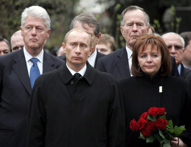 Під час похорону Бориса Єльцина. 25 квітня 2007 року