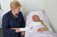 Фото со встречи президента Литвы с Тимошенко
