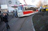 Во время презентации нового трамвая произошло задымление