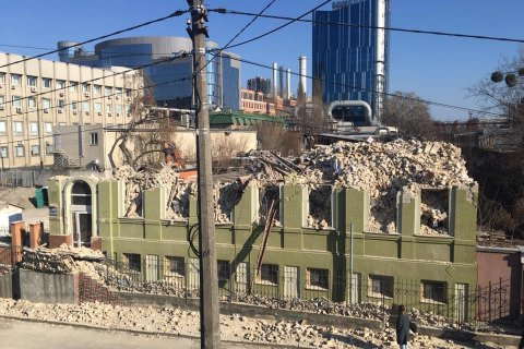 """Міністр культури назвав """"варварством"""" демонтаж будинку Уткіна в Києві"""