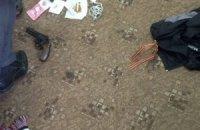 У Києві впіймали групу людей з георгіївськими стрічками і пістолетом
