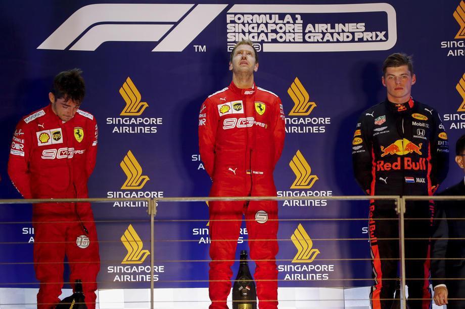 Гран-при Сингапура в чемпионате мира Формулы-1 выиграл Себастьян Феттель, выступающий за Феррари