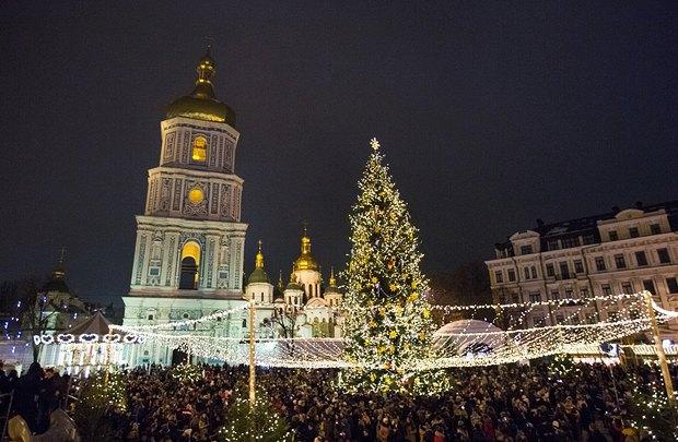 Открытие елки в Киеве