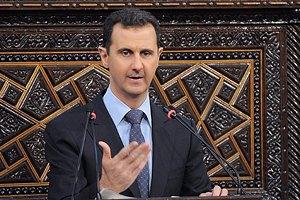 Асад обвинил Запад в поддержке террористов