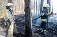 У Чорнобильській зоні триває ліквідація пожежі