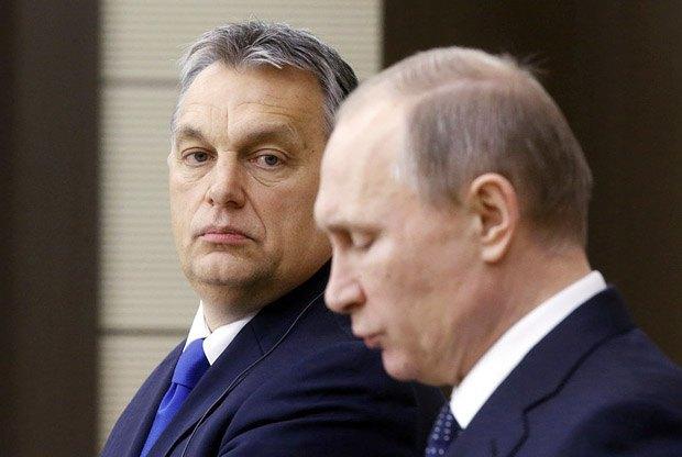 Виктор Орбан во время встречи с Владимиром Путиным в Москве, 17 февраля 2016
