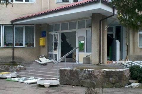 НаЛьвівщині урайонній лікарні підірвали банкомат і вкрали гроші