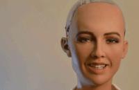 Робот София ответила на вопросы о Путине и Боге