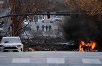В американском городе Нэшвилл взорвалось авто, власти подозревают умышленный подрыв