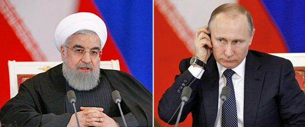 Владимир Путин и Хасан Рухани во время встречи в Москве, 28 марта 2017 г