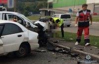 При столкновении авто в Киеве погибли двое людей, еще двое тяжело ранены