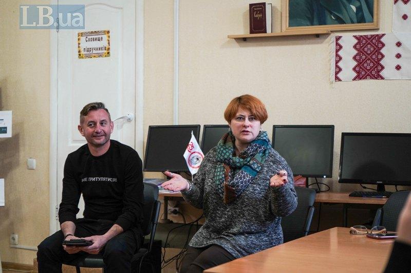 Юліта Ран і Сергій Жадан у школі Кремінної
