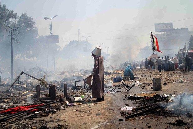 В Каире, Египет, демонстрация 14 августа закончилась десятками смертей