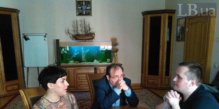 Назар Холодницкий під час інтерв*ю ЛБ