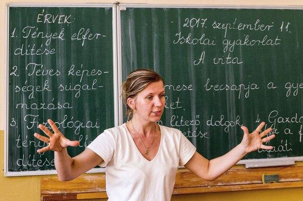 Урок угорської мови в школі №10 ім.Дойко Габора в Ужгороді, 11 вересня 2017.