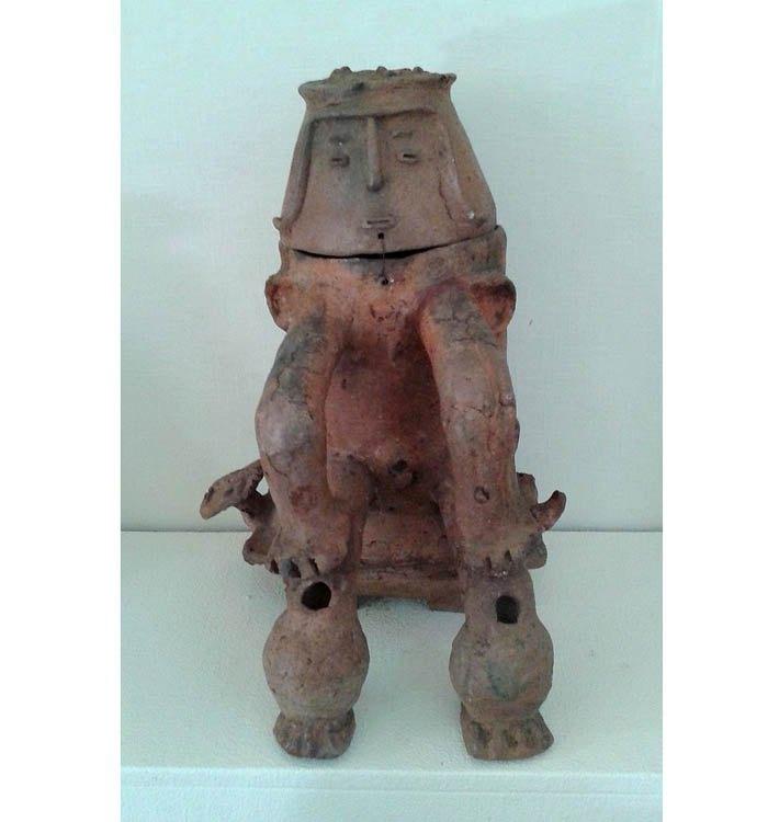 Антропоморфная погребальная урна культуры Марака, ок. 1000-1500 н.э.