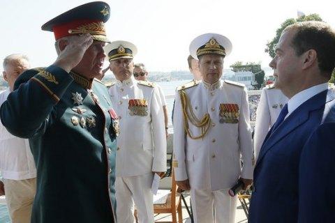 МИД осудил визит Медведева в оккупированный Крым