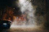 В Киеве возле Воздухофлотского проспекта прорвало трубу с горячей водой
