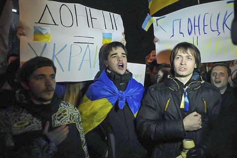 Перший мітинг у Донецьку