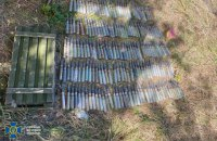 СБУ на Донбасі виявила три схрони бойовиків з вибухівкою і протитанковими мінами