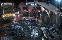 ДТП у Києві: в жахливому лобовому зіткненні Hyundai і Subaru загинули обидва водії