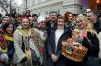 Порошенко посетил рождественскую ярмарку во Львове