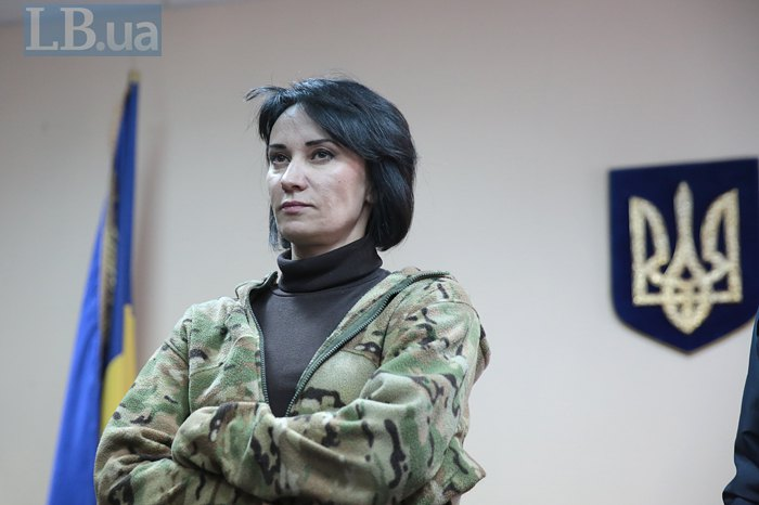 Маруся Звіробій на засіданні суду