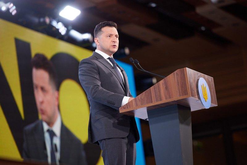 Президент Володимир Зеленський під час форуму «Україна 30. Безпека країни».