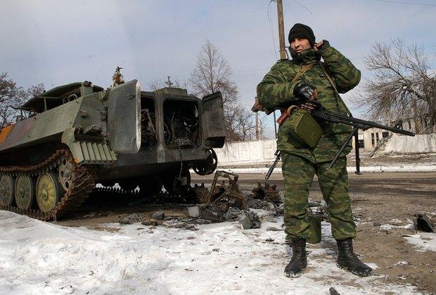 Сепаратист в Углегорске