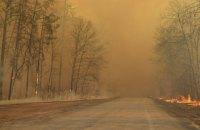 У Чорнобильській зоні сьомий день гасять лісову пожежу