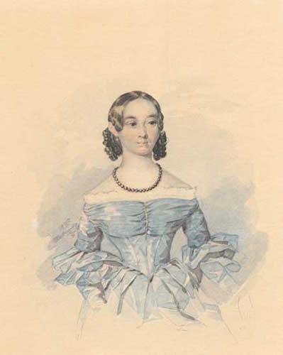 Портрет Катерини Абази. Акварель. 1837