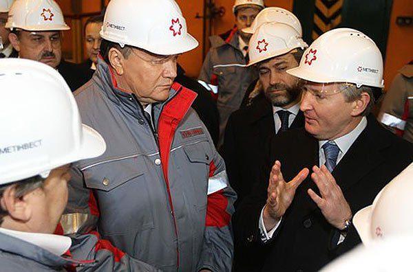 Ахметов (справа від Президента) - один з вигодонабувачів приватизаційного дерибану