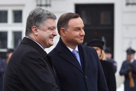 Порошенко і Дуда домовилися прискорити будівництво газопроводу Польща-Україна