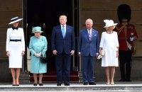 Подружжя Трампів прибуло в Букінгемський палац з офіційним візитом
