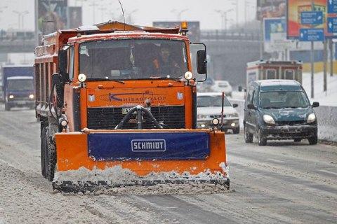 В КГГА назвали худшие по уборке снега районы столицы